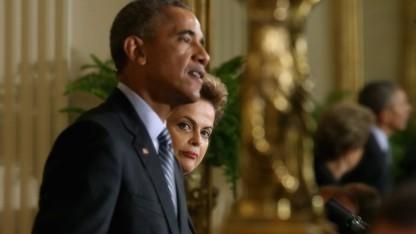 Brasiliens Staatschefin Dilma Rousseff bei einem Treffen mit US-Präsident Barack Obama Ende Juni