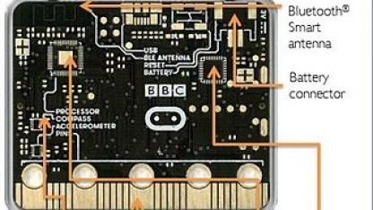 Die Rückseite des Micro Bit