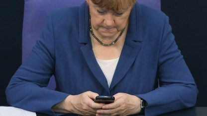 In den Dokumenten der NSA finden sich auch Mitschnitte von Telefonaten Angela Merkels.