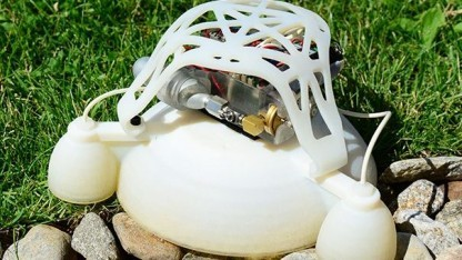 Springender Roboter: Weiche und starre Materialien zusammen ermöglichen eine neue Generation von Robotern.