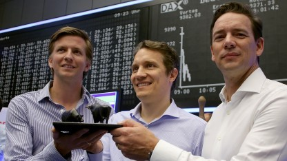 Rocket Internet beim Börsengang im Oktober 2014