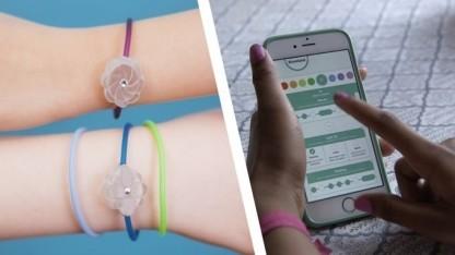 Die Jewelbots-Armbänder lassen sich über ein Smartphone steuern.