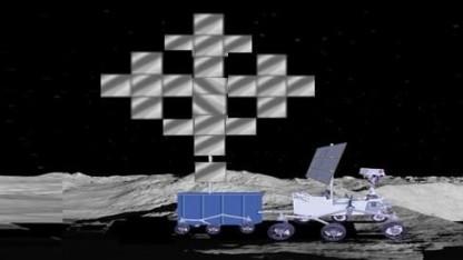 Transformer: 1.200 Quadratmeter großer Spiegel am Kraterrand