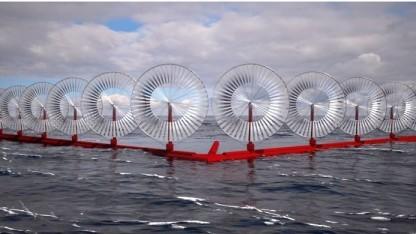 Offshore-Windanlage mit Rimdrives: V-Form der Plattform sorgt für ruhiges Wasser