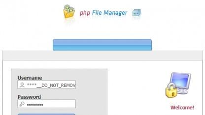 Ein undokumentierter Benutzer im PHP File Manager, dessen Passwort im Internet kursiert, macht den Datemanager verwundbar.