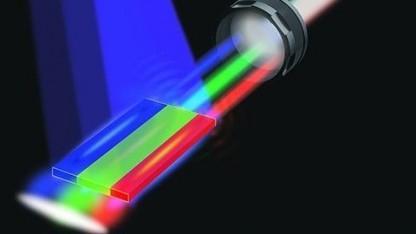 Weißer Laser (schematische Darstellung): gut geeignet als Leuchtmittel