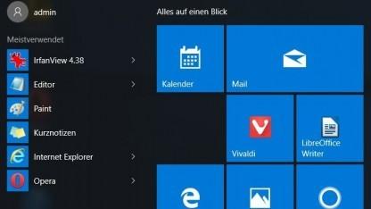 Fehler in Startmenü von Windows 10