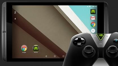 Nvidia Shield Tablet (im Bild mit Controller)