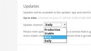 Ab Owncloud 8.1 bietet das Projekt selbst gepflegte Release-Channel