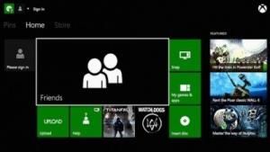 Nutzeroberfläche der Xbox One