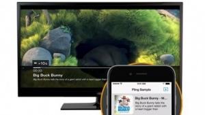 Fling spielt Inhalte vom Smartphone auf einem Fire-TV-Gerät ab.