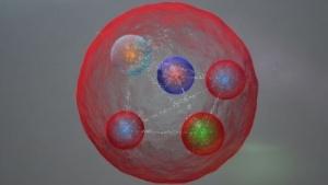 Möglicher Aufbau eines Pentaquarks: vor rund 50 Jahren theoretisch vorausgesagt