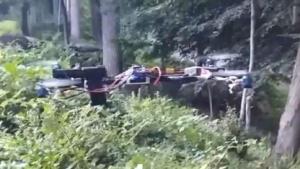 Quadrocopter mit halbautomatischer Pistole: mehrfach abgefeuert