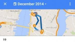 Zeitleiste in Google Maps für Android