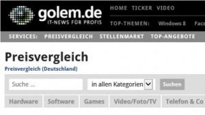 Im Preisvergleich auf Golem.de finden sich Informationen zu Tausenden IT-Produkten.
