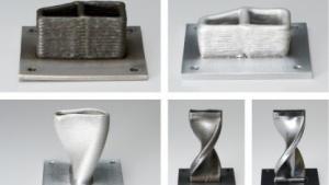 Gedruckte Objekte vor und nach der Bearbeitung