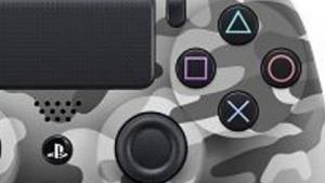 Controller der Playstation 4 im Camouflage-Design