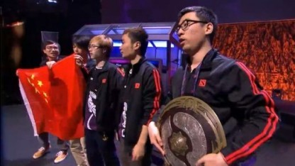 Team Newbee gewinnt das The International 2014.