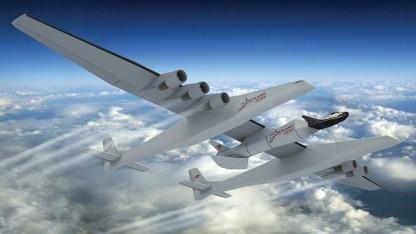 Stratolaunch Carrier mit Raumfähre Dream Chaser: Rakete benötigt weniger Treibstoff