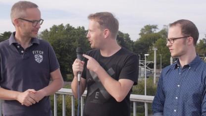 Peter Steinlechner, Michael Wieczorek und Marc Sauter auf der Gamescom 2015