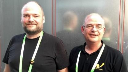 Sylvius Lack und Thomas Dlugaiczyk auf der Gamescom 2015