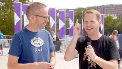 Peter Steinlechner und Michael Wieczorek auf der Gamescom 2015