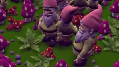Screenshot aus der Gnome-Horde-Demo mit Vulkan-Grafikschnittstelle