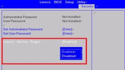 Lenovos Service Engine lädt Software aus dem Bios bei einer Neuinstallation von Windows nach.