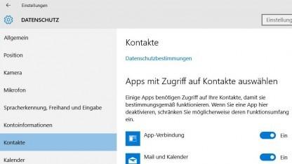 Datenschutzeinstellungen von Windows 10