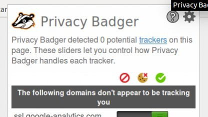 Privacy Badger soll Tracking im Browser verhindern.