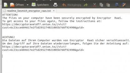Encryptor RaaS nennt sich ein neuer digitaler Erpressungsdienst.