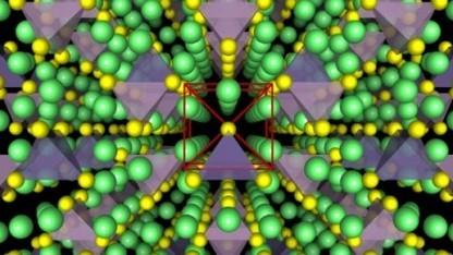 Kristallgitter des festen Elektrolyten: gegen die Wand werfen, Nagel hineinschlagen