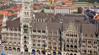 Das neue Rathaus in München - Sitz des Stadtrats.