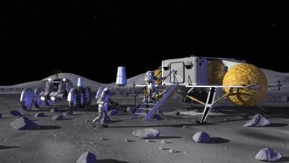 Konzept für eine Mondbasis