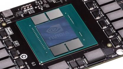 Mockup einer Pascal-Platine ohne echte GPU oder HBM