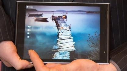 Das Jolla Tablet wird mit Gesten bedient.