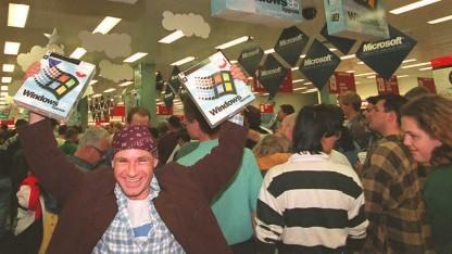 Verkaufsstart von Windows 95 am 24. August 1995 in Sydney