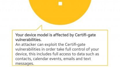 Das IT-Sicherheitsunternehmen Checkpoint entdeckte einen ersten Missbrauch von Zertifikaten unter Android.