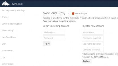 Die UI der neuen Proxy-App in Owncloud