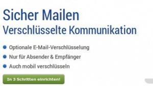 Bei GMX und Web.de lassen sich E-Mails per PGP verschlüsseln.