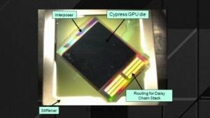 Früher Prototyp mit Cypress-GPU und Pads für DRAM