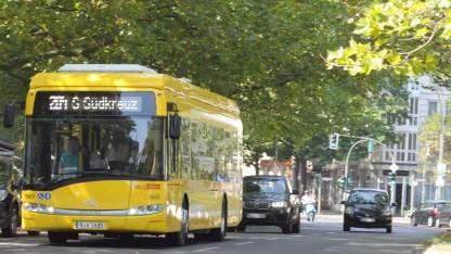 Die Linie 204 wird ab sofort in Berlin mit elektrischen Bussen betrieben.