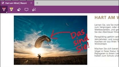 Mit Microsoft Edge kann man Webseiten annotieren - und fremden Code ausführen.