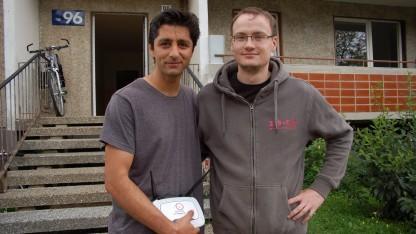 Vahid Mahdian und Michel Vorsprach haben gemeinsam das Freifunk-Projekt aufgesetzt.