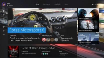 Kommende Nutzeroberfläche der Xbox One
