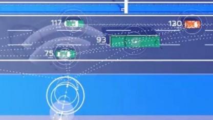So stellt sich die Bundesregierung das vernetzte Fahren auf der Autobahn vor.