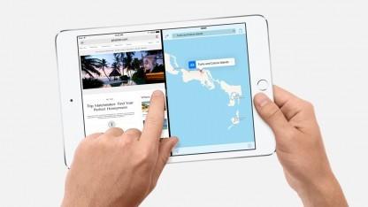Das iPad Mini 4 ermöglicht Split View.