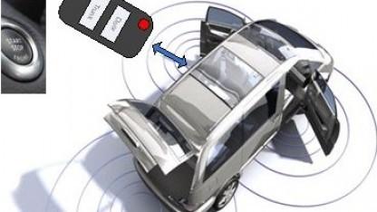Funkender Autoschlüssel: Empfang auf drei Kanälen gleichzeitig
