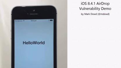 Über Airdrop lassen sich infizierte Apps auf dem iPhone installieren.