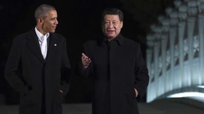 US-Präsident Barack Obama und Chinas Präsident Xi Jinping bei einem Treffen im Jahr 2014